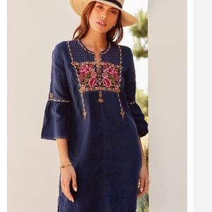Nwt Johnny Was embroidered  Linen dress S